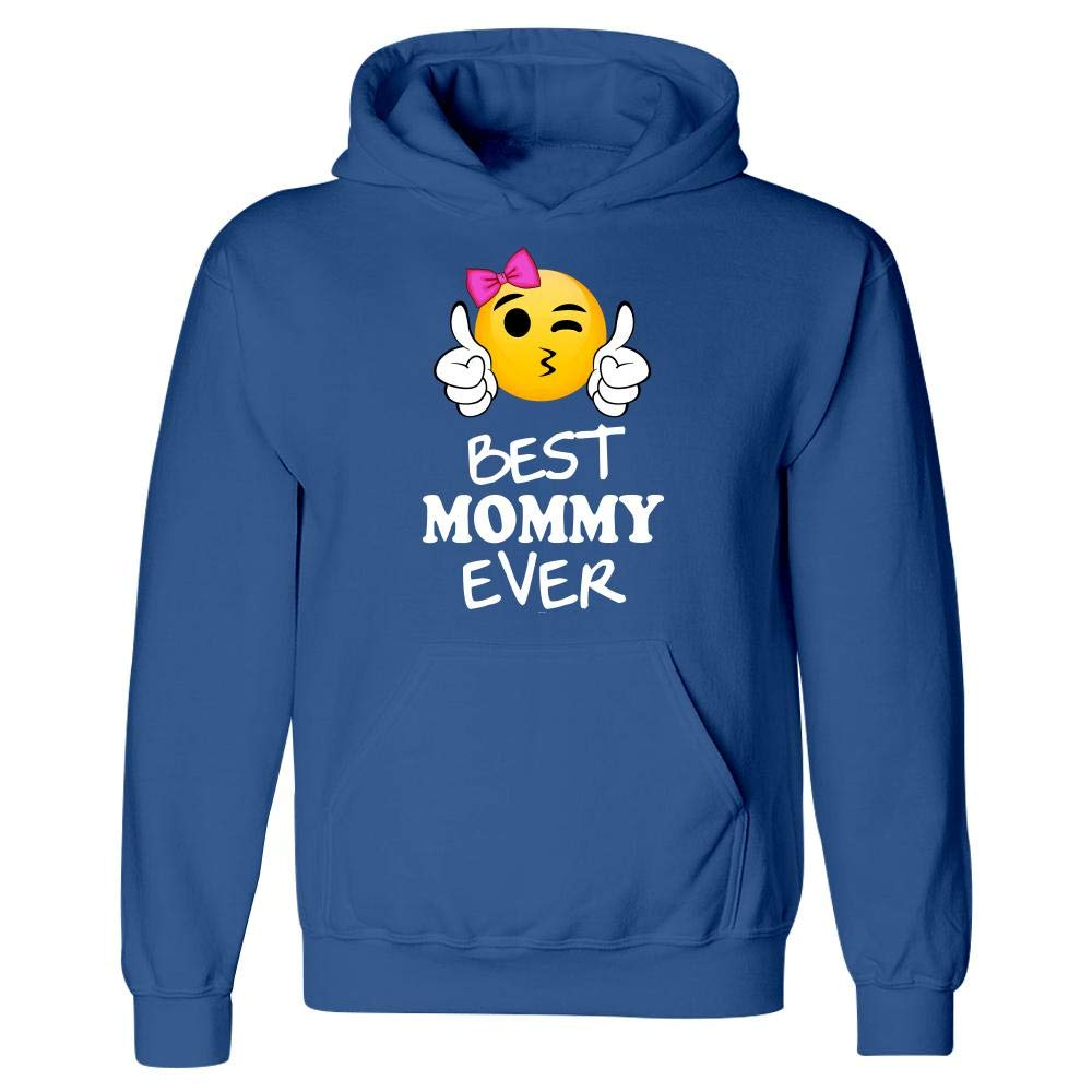 Hoodie Best Mommy from Daughter Son Emojicon