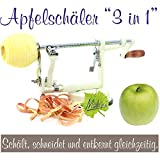 3-in-1 Apple Peeler, Slicer and Corer, Apple Machine with apple container cream white