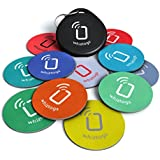 NFC tags - NTAG216 Chip - 10 NFC Tags + Free NFC-Keychain + Free Bonus Tag - Android Writeable & Programmable - Samsung Galaxy S6 S5 S4 Note 4 - HTC One First One X Droid DNA - Sony Xperia - Nexus - Smart Tags - Adhesive Sticker Back - Best Money-Back Guarantee!