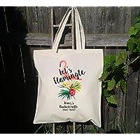 Lets Flamingle Tote Bag, Bachelorette Tote Bag, Gifts for Bridesmaid, Flamingo Tote Bag, Personalized Tote Bag for Bachelorette