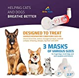 BRITE AISLE Inhaler for Dog or Cat, Aerosol Inhaler Chamber for Dogs and Cats with 3 Sizes Masks for Best Fit and a Carrying Case, Clear Instructions Included