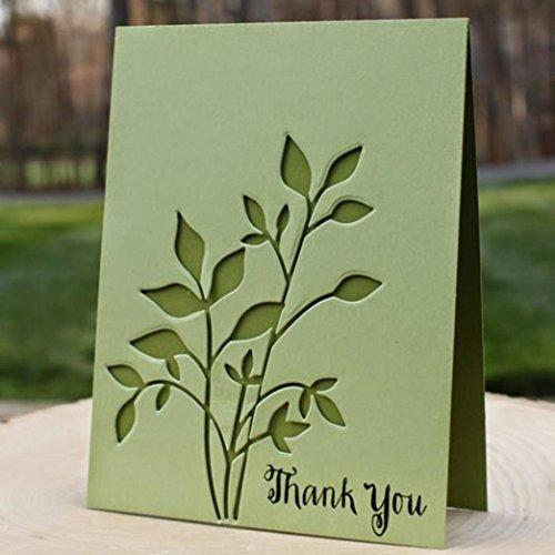 Metal Cutting Dies, Amiley Leaves Flowers Cutting Dies Birthday Stencil Metal Mould Template Card Making (A) -