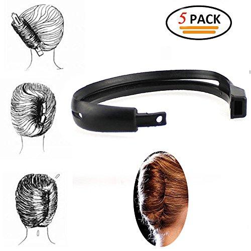 Okdeals Hair Bun Maker Donut Clip Shaper, Magic Former Foam French Twist Maker Holder Hair Sticks, Hair Styling Making DIY Curler Roller Hairstyle Tools for Women Girls,5 Pack