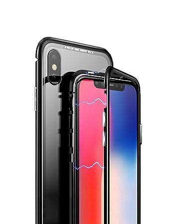 330fd626de iPhone X マグネット式 ケース uovon アイフォン X 薄型高品質 金属バンパー メタルカバー 人気