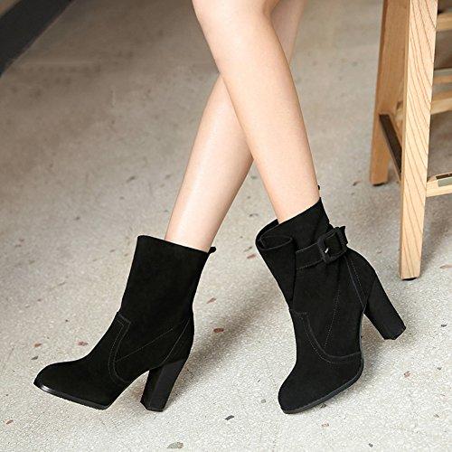 2 à Gris types chaussures LIANGJUN Couleur disponibles bottines 2 talons couleurs 1 chaussures qH78wt