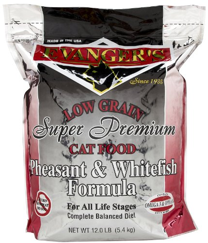 EVANGER'S 776020 Pheasant and Whitefish Dry Cat Food, 12-Pou