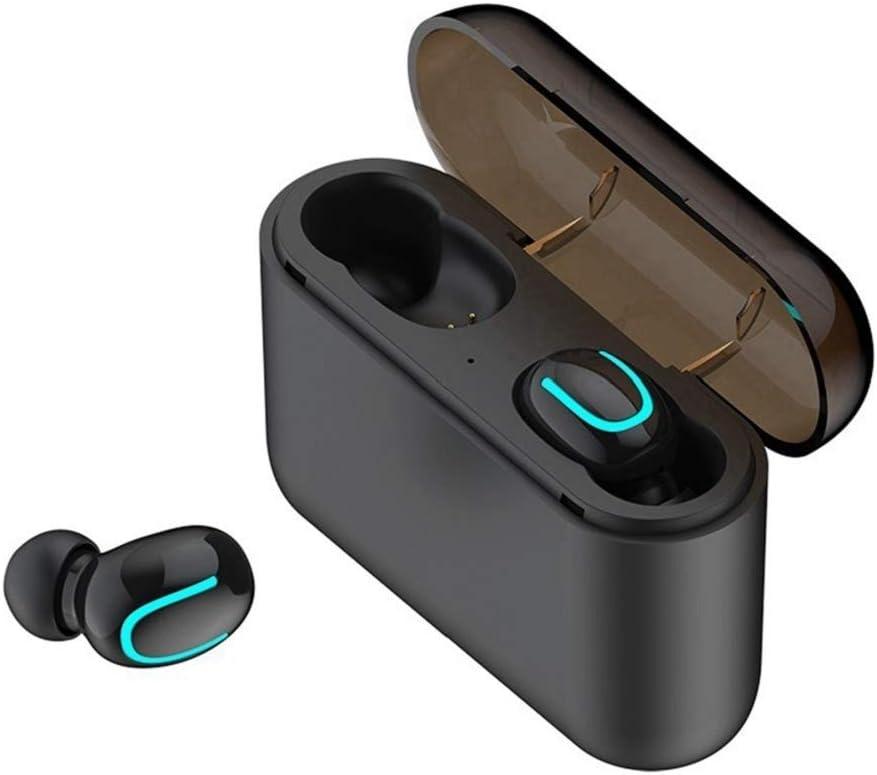 COOLEAD Mini Auriculares Inalambricos Bluetooh 5.0 Invisibles con Caja de Carga para iPhone,Android Deportes,Reunión (un par, Q32)