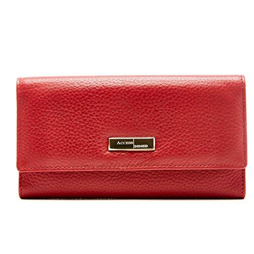 Genuine Leather Wallets Women Blocking