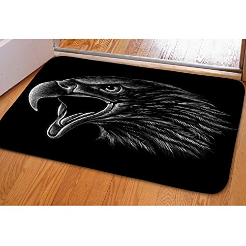 iBathRugs Door Mat Indoor Area Rugs Living Room Carpets Home Decor Rug Bedroom Floor Mats,Vector Logo Eagle Tshirt Design