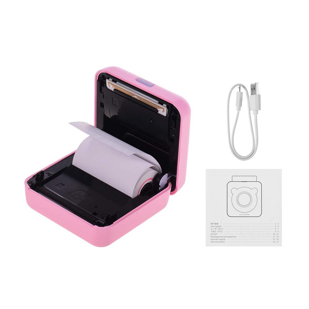 GOOJPRT PeriPage Mini Pocket Stampante termica BT senza fili Immagine Photo Label Memo Receipt Stampante di carta con cavo USB Supporto per Android iOS Smartphone Windows