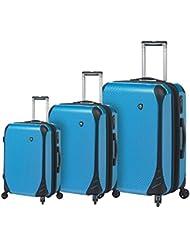 Mia Toro Fibre Di Carbonio Largo Luggage 3 Piece Set, Blue