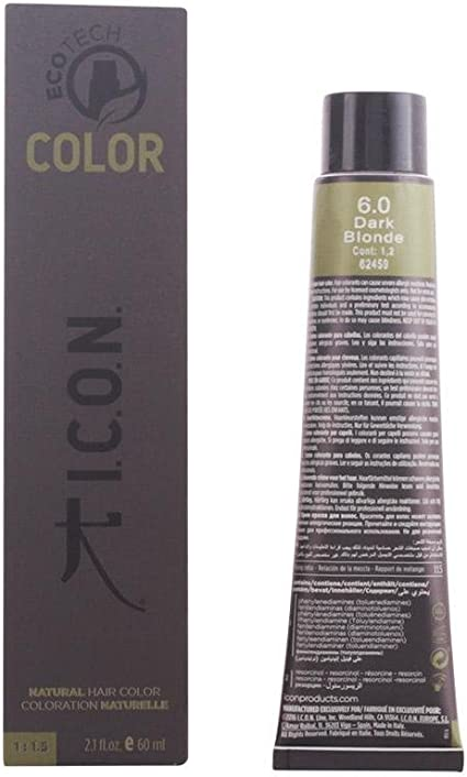 Icon Ecotech Natural Color 6.0 Dark Blonde Tinte - 60 ml