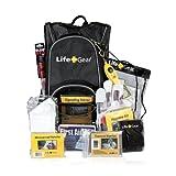 Life Gear LG492 Emergency Survival Kit Backpack w/Emergency Gear & First Aid Kit