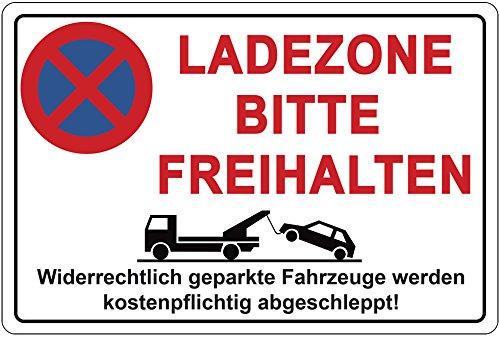 Cartel zona de carga por favor freihalten Prohibido aparcar ...