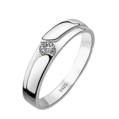 9583881ff Image Unavailable. Image not available for. Colour: for men-15, Silver:  Scelet Diamond Ring Elegant Crystal Rings Jewelry for Women