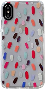 Color Mixing Spot for Apple iPhone X XS Case Built-in Rubber Bumper Cute Designed Anti-Scratch Clear Phone Cover Skin Fashion Style for iPhone X & XS Cases (for iPhone X/XS)
