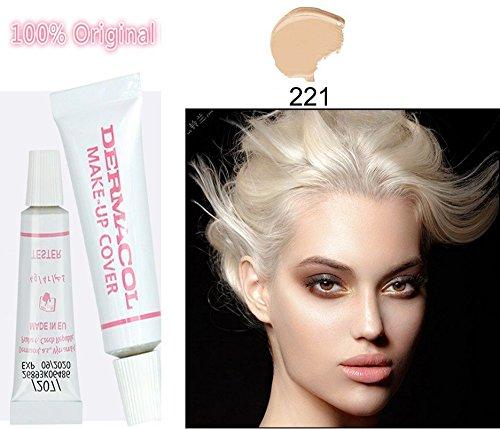 (For Tanned skin) 100% Original Dermacol base primer corrector concealer cream makeup base tatoo consealer face foundation contour palette 30g (Tester 4g, #221)