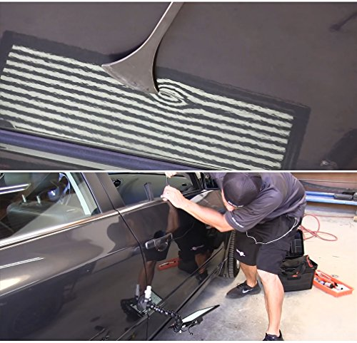 Wcaro Paintless Dent Repair Tool Set Removal of Hail Dents and Door Ding with PDR Rods Tips Dent Puller Car Auto Body Dent Removal Pdr Whale Tail Rods Set by Wcaro (Image #5)