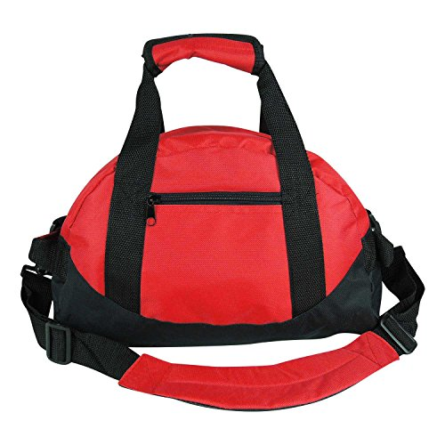 14' Small Duffle Bag Two Toned Gym Travel Bag in Red