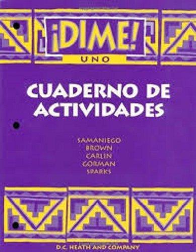Dime Uno Cuaderno De Actividades (McDougal Littell Dime) (Spanish Edition)
