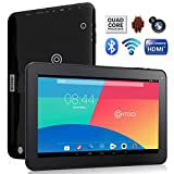 Contixo Q102 10.1 Inch Quad Core Google Android 4.4 KitKat Tablet PC, 1GB RAM, 16GB Nand Flash, HDMI, Wi-Fi, Bluetooth, Dual Camera, Google Play Pre-installed, 3D Game Supported, 2015 Newest BLACK Model