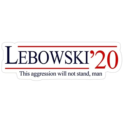 Andrews Mall Lebowski 2020 Stickers (3 Pcs/Pack): Kitchen & Dining