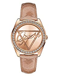 GUESS Women's Rose Gold-Tone Time to Give 2014 Watch