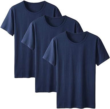 Ancdream Anti-Polvo Algodón Camiseta para Mujer, Cuello Redondo, Pack de 3: Amazon.es: Ropa y accesorios