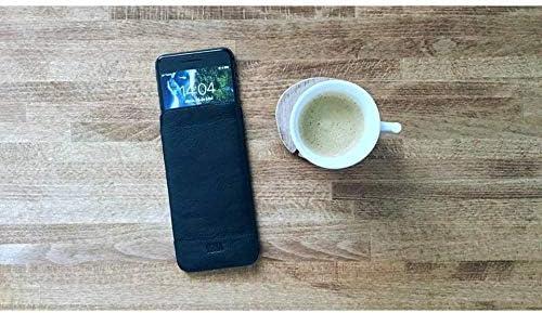 Heritage Ultraslim Leder Sleeve f/ür iPhone 8//7////6S//6 schwarz