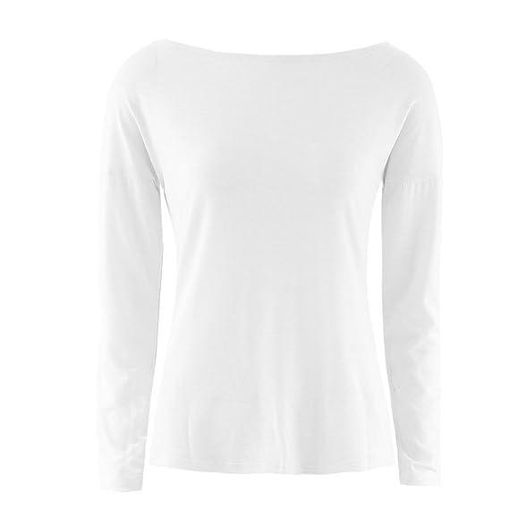Niña otoño fashion fiesta carnaval,Sonnena ❤ Camisa cruzada trasera atractiva de las mujeres Camiseta de fiesta casual sexy de manga larga para mujer ...
