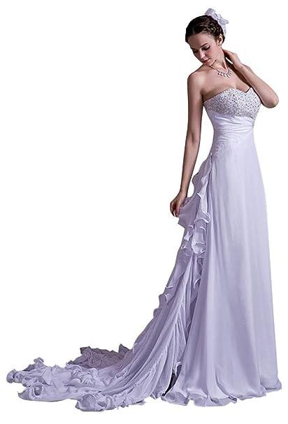 George Bride nuevo entwurfs del tesoro Moderno Perlas gasa Lencería Vestido De Novia Vestidos de novia