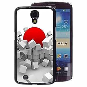 A-type Arte & diseño plástico duro Fundas Cover Cubre Hard Case Cover para Samsung Galaxy Mega 6.3 (Red Japan Sun Abstract Deep)