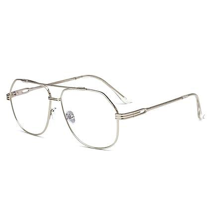 BiuTeFang Gafas de Sol Mujer Hombre Polarizadas de Metal Gafas de Sol de  Señora Hombre Plaza d13c0db32ea4
