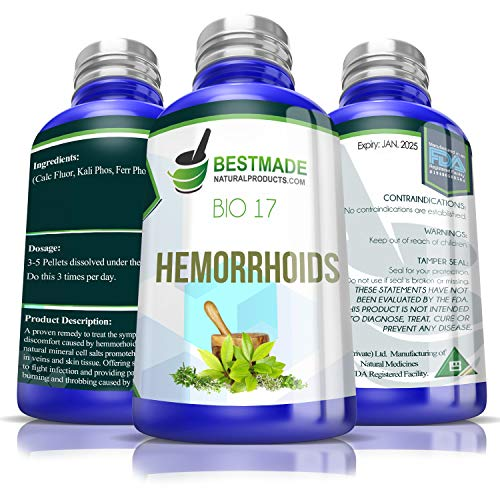 Hemorrhoids Bio17 300 pellets, Natural Dietary Supplement Helps Shrink Hemorrhoids, Relieves Itching and Inflammation of Piles or Fissures, Fights Infection, Improves Elasticity of Muscle and Skin (Best Treatment For Bleeding Piles)