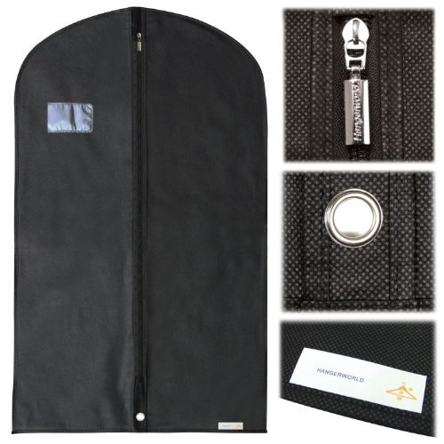 Hangerworld- 10 Custodie porta abiti in tessuto traspirante nero - 100 cm e53496bfbcf