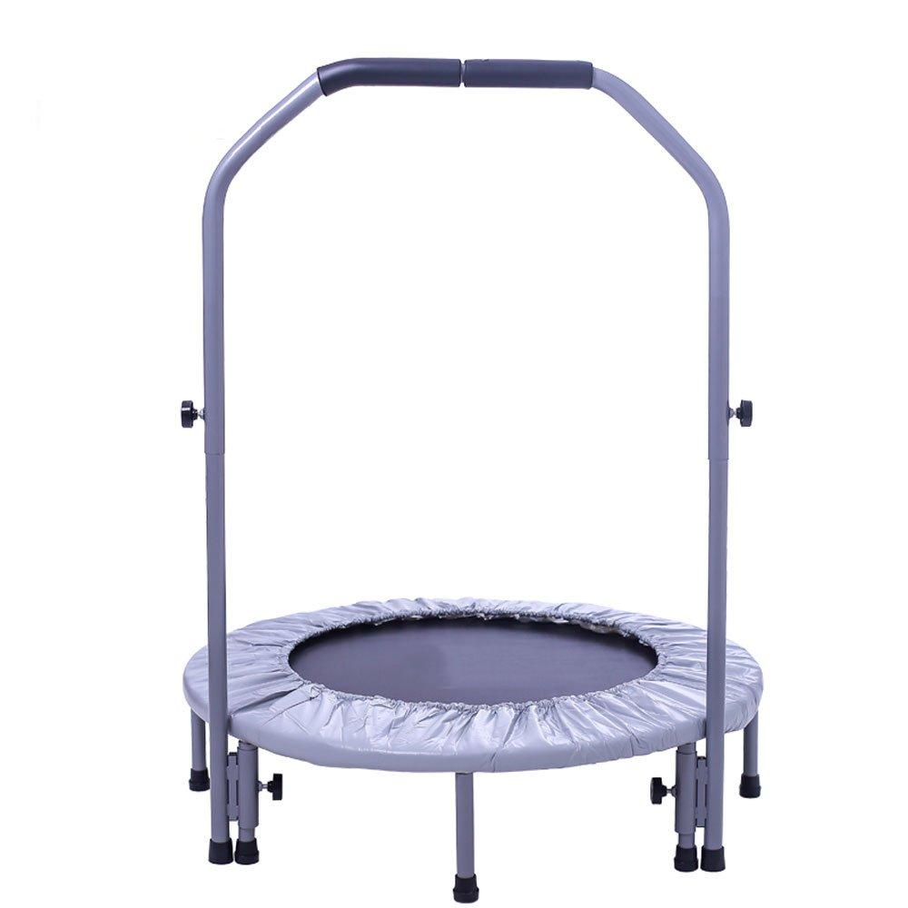Trampolin Gym Zusammenklappbar springen Bett Kinder Hause Innen mit Armlehne Frühling