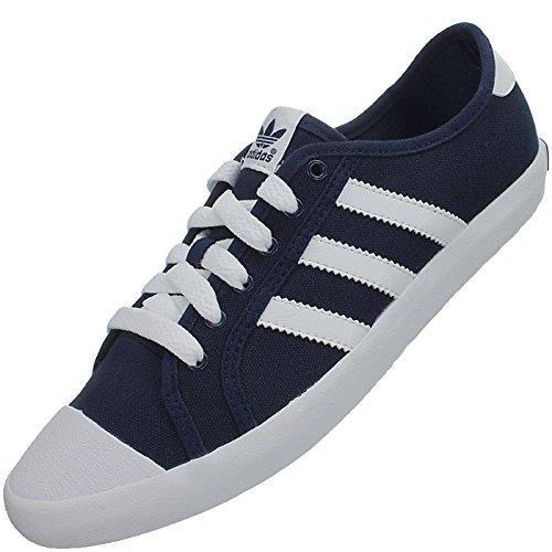 Adidas Adria Low Sleek Canvas Sneakers navy blau weiß - Gr.42 UK8