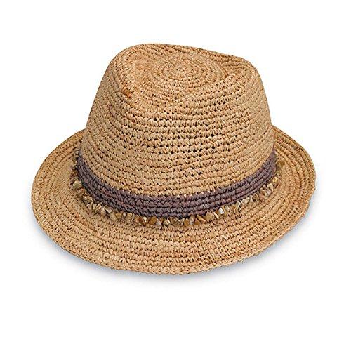 Wallaroo Hat Company Women's Tahiti Sun Hat - Fedora-Style Sun Hat, Taupe