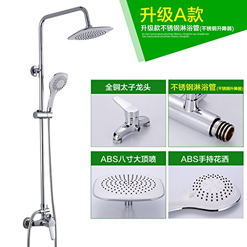 The Standard C) NewBorn Faucet Kitchen Or Bathroom Sink Mixer Tap The Copper Shower Water Tap Shower Set Hot And Cold Full Brass Body Lift Shower Shower Sprinkler Standard A