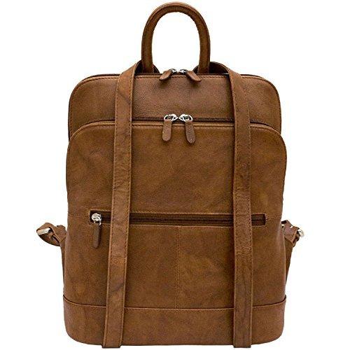 ili Leather 6505 Backpack Handbag (Antique Saddle) by ILI