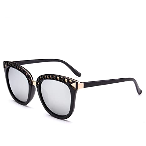 Wkaijc Persönlichkeit Große Kiste Retro Mode Straße Schießen Trend Männer Und Frauen Sonnenbrillen Sonnenbrillen,E