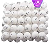 TADICK 100 Pack Orange 3-Star Ping Pong Ball Premium Table Tennis Balls