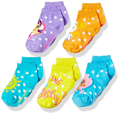 Nickelodeon Girls' Little Bubble Guppies 5 Pack Shorty Sock, assorted sherbet 5-6.5 ()
