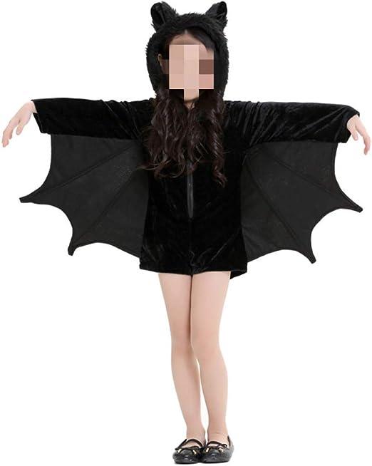 QWWR Disfraz de Halloween para niñas disfraz de murciélago para ...