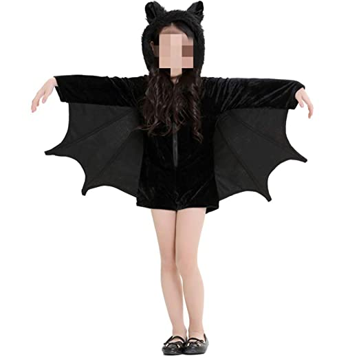 QWWR Disfraz de Halloween para niñas, traje de murciélago ...