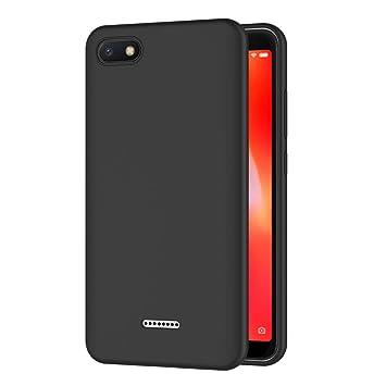 AICEK Funda Xiaomi Redmi 6A, Negro Silicona Fundas para Xiaomi Redmi 6A Carcasa Redmi 6A Negro Silicona Funda Case (5,45 Pulgadas)