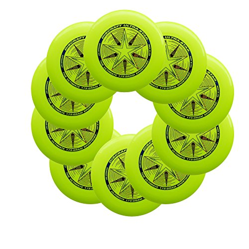 Discraft Ultra-Star 175g Ultimate Sportdisc Yellow (10 Pack) by Discraft
