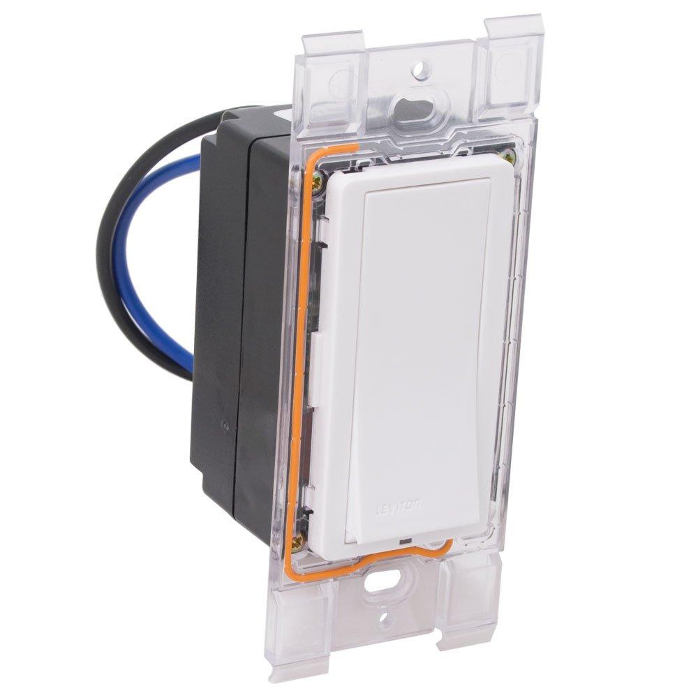 Leviton WSS10-GDW Wireless Momentary Switch Relay, No Neutral, 120 ...