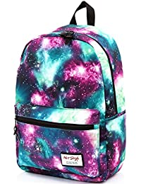 """TRENDYMAX Galaxy Backpack Cute for School   16""""x12""""x6""""   Holds 15.4-inch Laptop"""