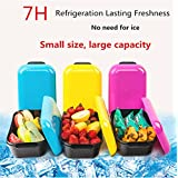 Cold Fresh Lunch Box Containers ; Leakproof Meal Prep Container,Long-Term Cooling Moveable Freezer,Multicolors
